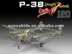 RC Airplane 400Class P-38 1200