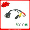 Great VGA to 3 /4/5 RCA Cable