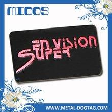 metal embossed nameplate, aluminum nameplate, metal business card