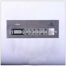 vandalproof stainless steel keyboard with 12 buttom