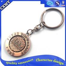 brass metal keychain with a smart kid