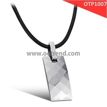 faceted tungsten carbide tungsten pendant necklace, also can be made s.steel