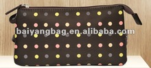 2013 holder bag with 3 pouches zipper and dots
