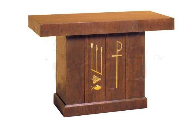 Madera de roble macizo del altar de la iglesia dem s for Sillas para iglesia en madera