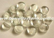 Flat Round Crystal Glass Beads
