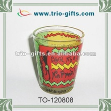 Decal shot glass / tequila glassware