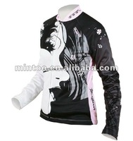 authentic custom long sleeve bike jersey with full sublimation outdoor sports