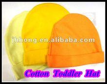 Plain yellow Newborn Baby Cotton beanie Hats