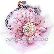 2012 Newly Double-deck Flower Shape Mini Elastic Hair Bands/Rubber Band Hairband(JW-928)