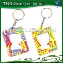 Cheap digital photo frame keychain/plastic keychain photo holder
