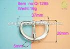 shinny nickel metal adjustable belt buckle for leather q-1295