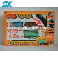 !2012 Hot! Electric Wholesale Model Train with Railway,Music&Light&smoking remote control toy toy train