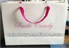 White rose classics paper shopping bag