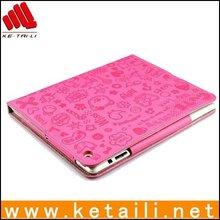 Cute fashion for mini girl leather ipad cover