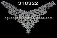 New Arrival figure Garment apparel lace neck designs for women's churidar /ladies suit