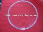 Large diameter clear quartz tubing