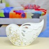 Butterfly white pottery vase decoration