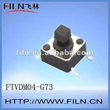 FTVDM04-G73 6*6 4 pin smd micro push button tact switch ROHS