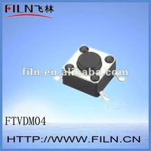 FTVDM04 6x6mm 4 pin smt miniature/mini/micro tactile switch ROHS
