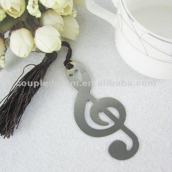 La nota musical de la decoración de la boda marcador