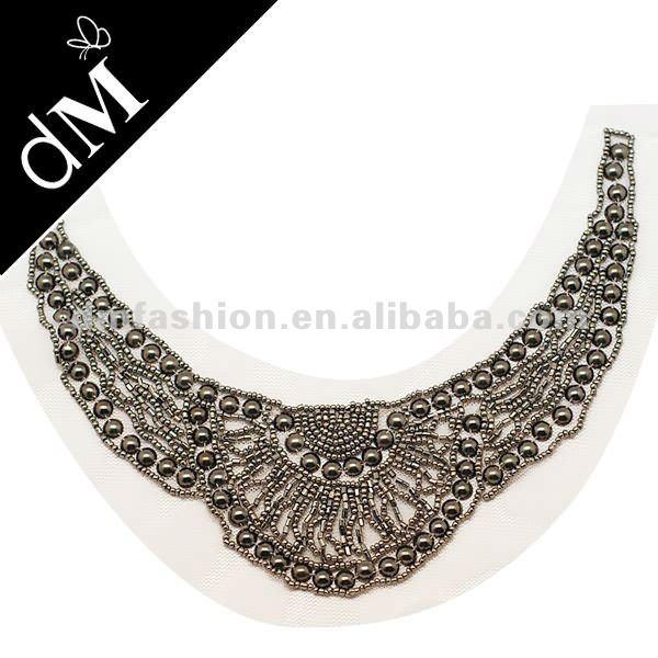 Beaded decorative metal trim clothing embellishment SNL0024