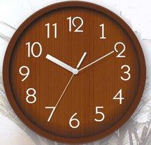 antique brass clock wood texture plastic wall clock