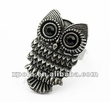 2012 Personality Owl Design Metal Finger Ring From Yiwu
