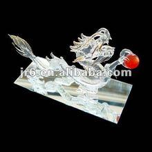 2012 Fashion handmade Glass Dragon with ball