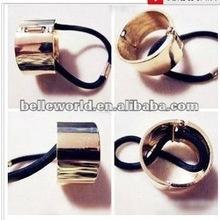 wholesale elastic hair ties hair ornament with metal circle