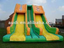 0.55mm PVC 30ft x 23ft inflatable dual lane Jungle Mega Slide