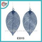 Stamp leaf shape Earing Yiwu colorful paint E3313