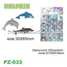 Growing sealife toys plastic dolphin