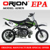 China Apollo ORION EPA orion 70cc mini dirt bike 70CC Pit Bike Automatic AGB-21A