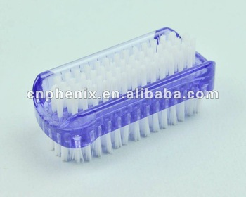 Double side plastic nail brush