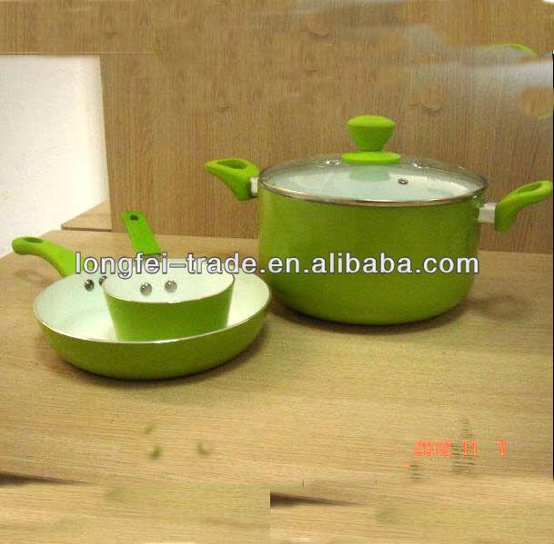 ceramic coating non-stick cookware set 4pcs