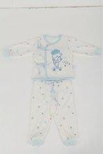 gift 2014 bear cartoon embossed infant sets,spilt pants baby wears