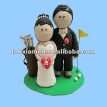 Mini Golf Fan Wedding Cake Decoration