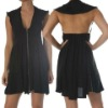 Ladies Backless Silk Dress, Daily Dress