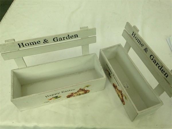 Hot Sale garden decoration flower box, shabby chic flower pot