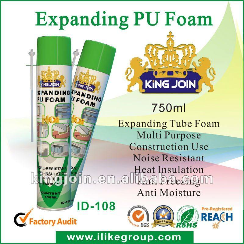 PU Foam sealant (Polyurethane Foam) High/large expansion tube/gun type manufacturer/factory 750ml/500ml