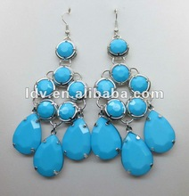 2012 new style acrylic beads and water-drop shape earrings LDE1926
