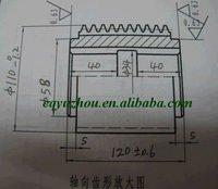 HSS Large Module Gear Hob, module 6.5, AA accuracy