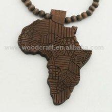 wood mao pendant,wood necklace,