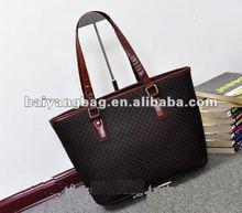 2013 pu fashion top brand handle bag