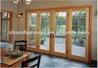 Moser wood aluminum clad door, swinging patio doors