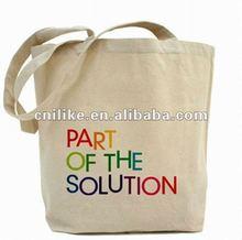 2012 fashion logo customed wholesale canvas bags