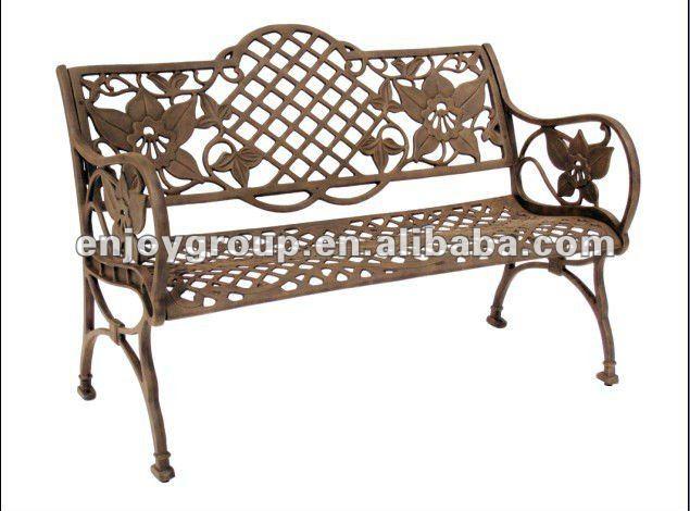banco jardim aluminio:Fundido alum banco de parque cadeira de jardim HL-B-08018-Cadeiras de