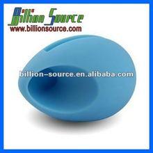 logo add silicone mini speaker for iphone 4/4S
