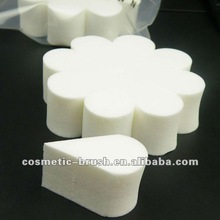 2012 New arrival best seller high quality white flower cosmetic makeup powder puff