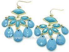 fashion earring hot sale long drop earring fashion jewelry made in china(SWTZTE031-3